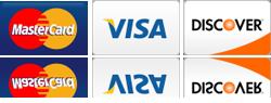Major Credit Cards Accepted - Visa, Master Card, Discover